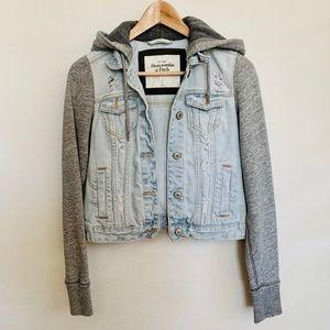 Abercrombie & Fitch Denim/Fleece Jacket